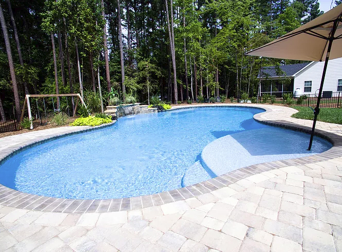 Custom Concrete Pool Construction in Davidson by Carolina Pool Consultants 704-966-4444